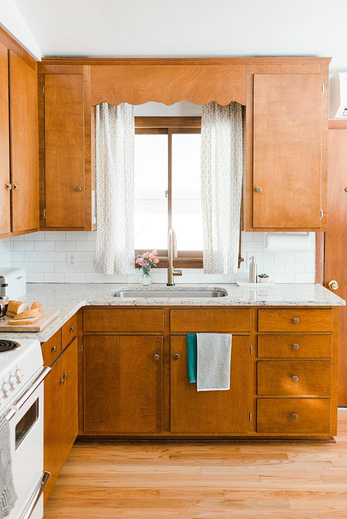 Our Budget Friendly MidCentury Kitchen Makeover  Dream