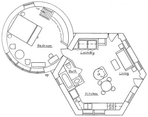 Hexagonal / Round House Plan