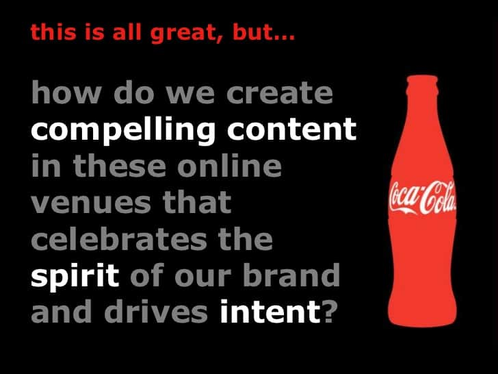cokes fans first approach in social communities content