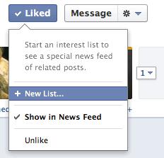 add to facebook interest list