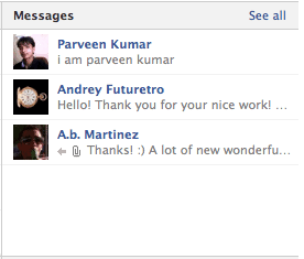 facebook timeline private message