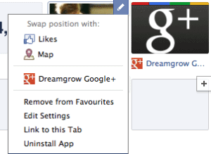 rearrange facebook timeline application