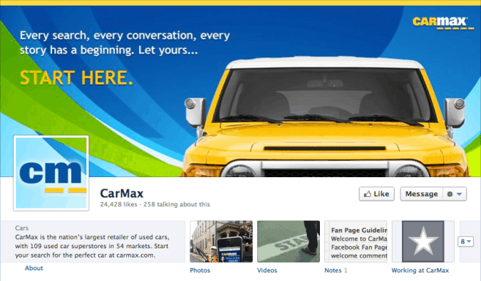 car max facebook cover photo