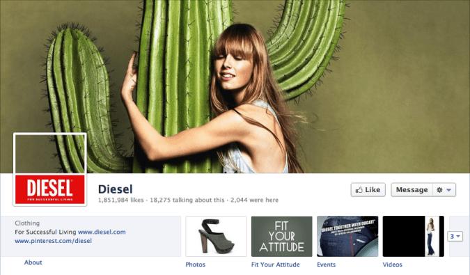 diesel facebook cover photo