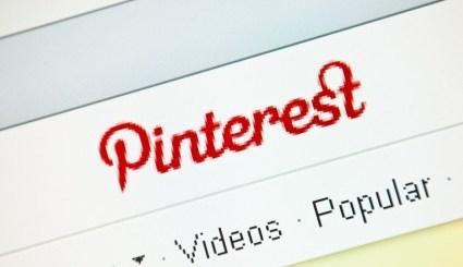 Pinterest logo on LCD screen