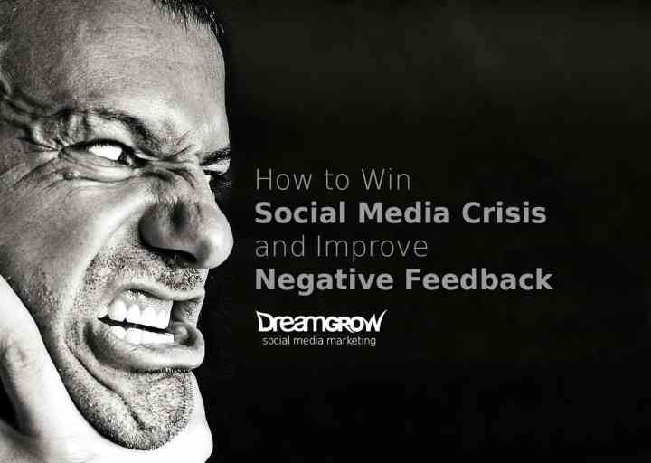 managing social media crisis and negative feedback