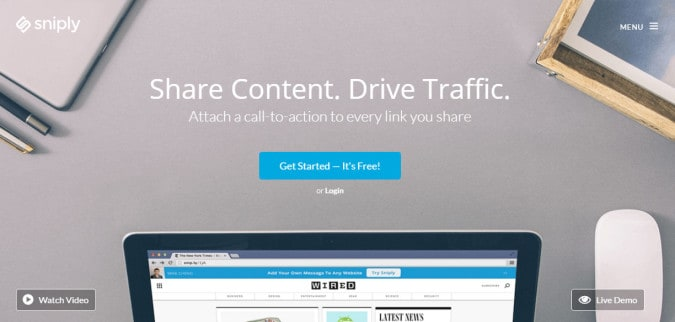 sniply content sharing tool