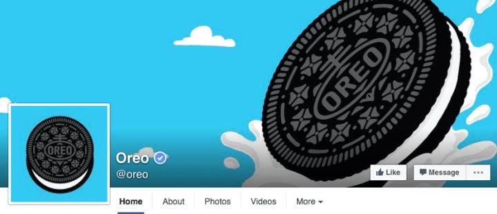 oreo-facebook-page