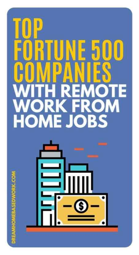 A great place to start is to check out Fortune 500 companies with remote work from home jobs. They are all legitimate sites. Apply now!
