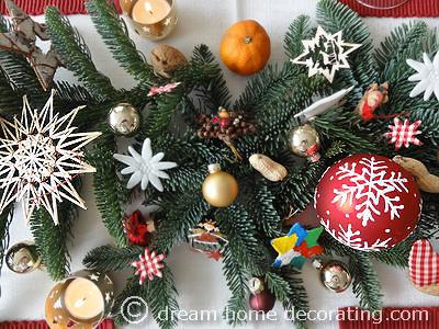 Austrian Christmas Table Decoration