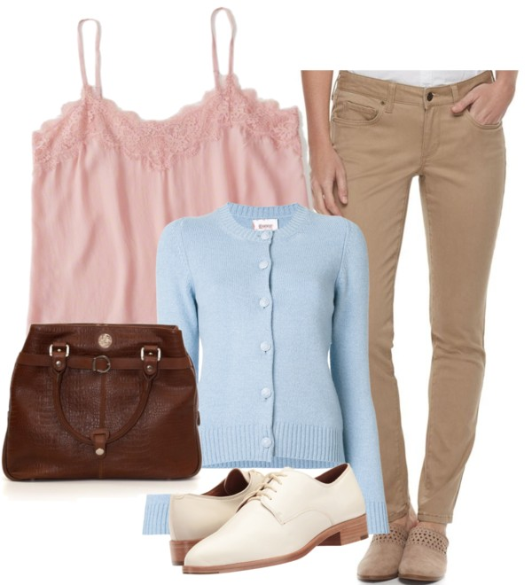 How-to-wear-light-blue-cardigan-with-khaki-pants-by-dreaming-loud