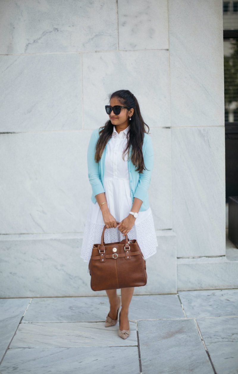 how-to-wear-light-blue-cardigan-with-white-to-work-by-dreaming-loud-6