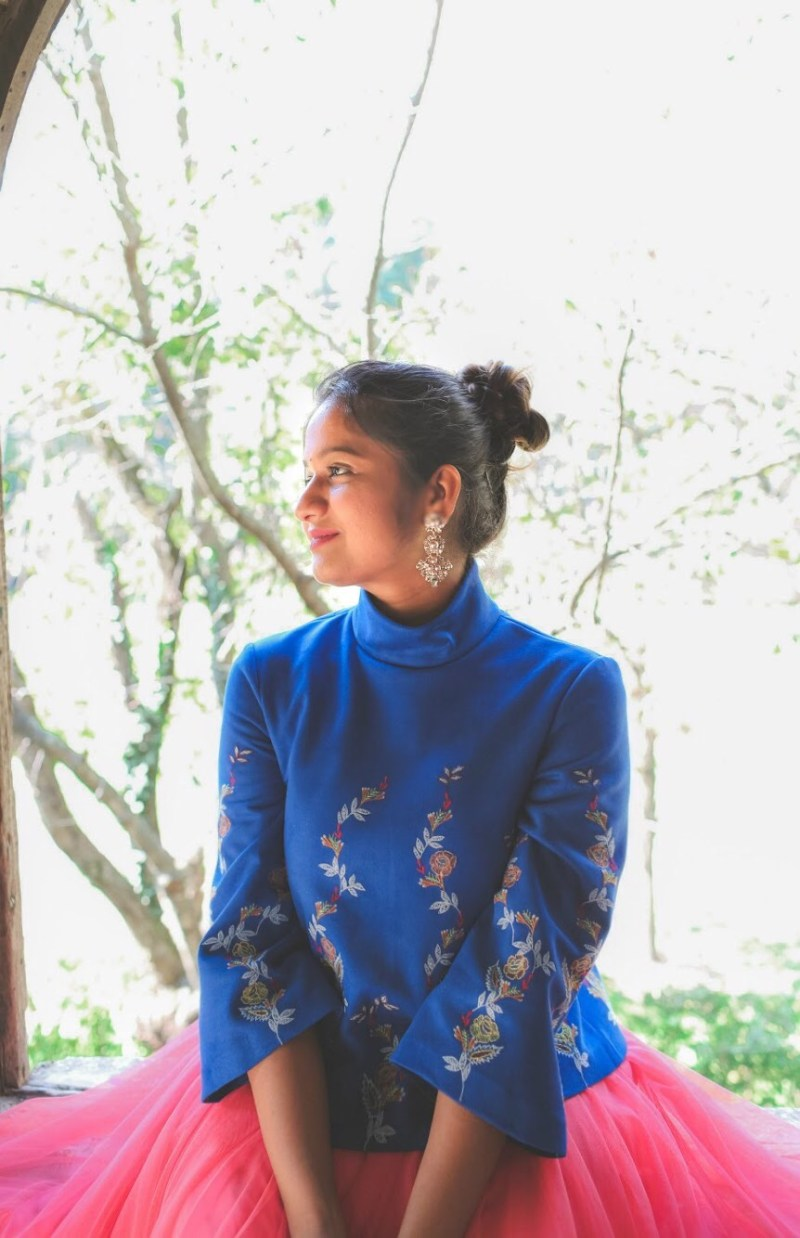 Lifestyle Blogger Surekha of dreaming loud wearing Zara EMBROIDERED FAUX SUEDE TOP