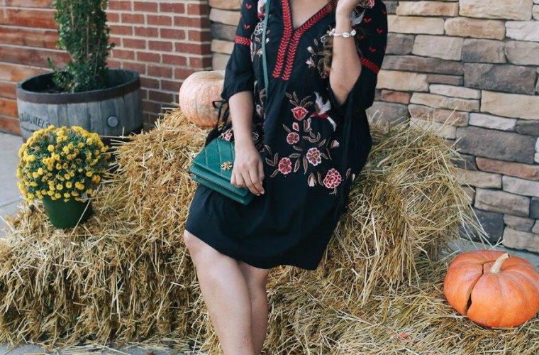 Lifestyle Blooger Surekha of Dreaming Loud Wearing River Island Embroidered Kimono Sleeve Dress