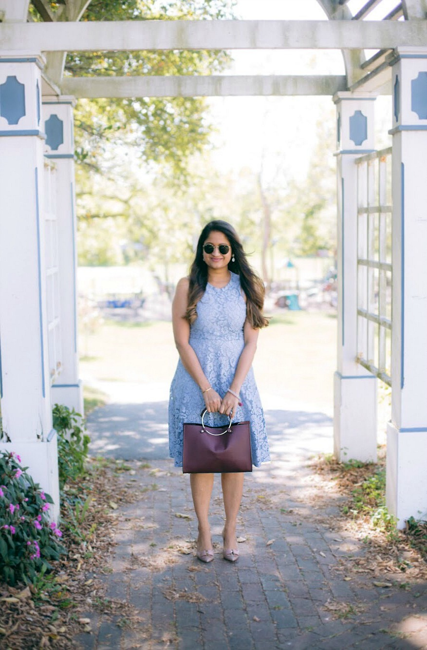 Lifestyle blogger Surekha of dreaming loud wearing Soprano Popover Lace Dress 4