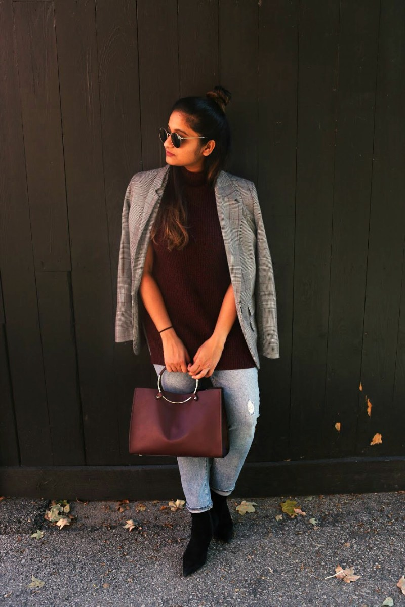 Lifestyle Blogger Surekha of Dreaming Loud wearing gap for good Women Mid Rise Best Girlfriend Jeans