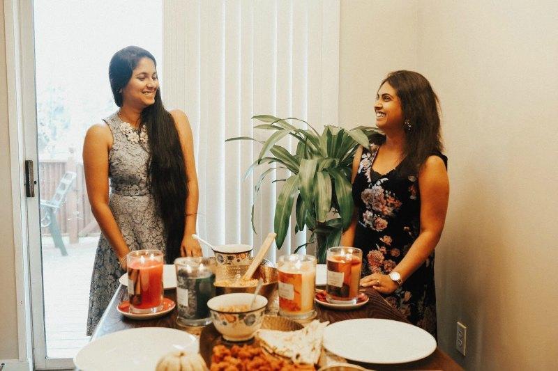 Lifestyle blogger Surekha of Dreaming Loud celebrating South Asian style Friendsgiving