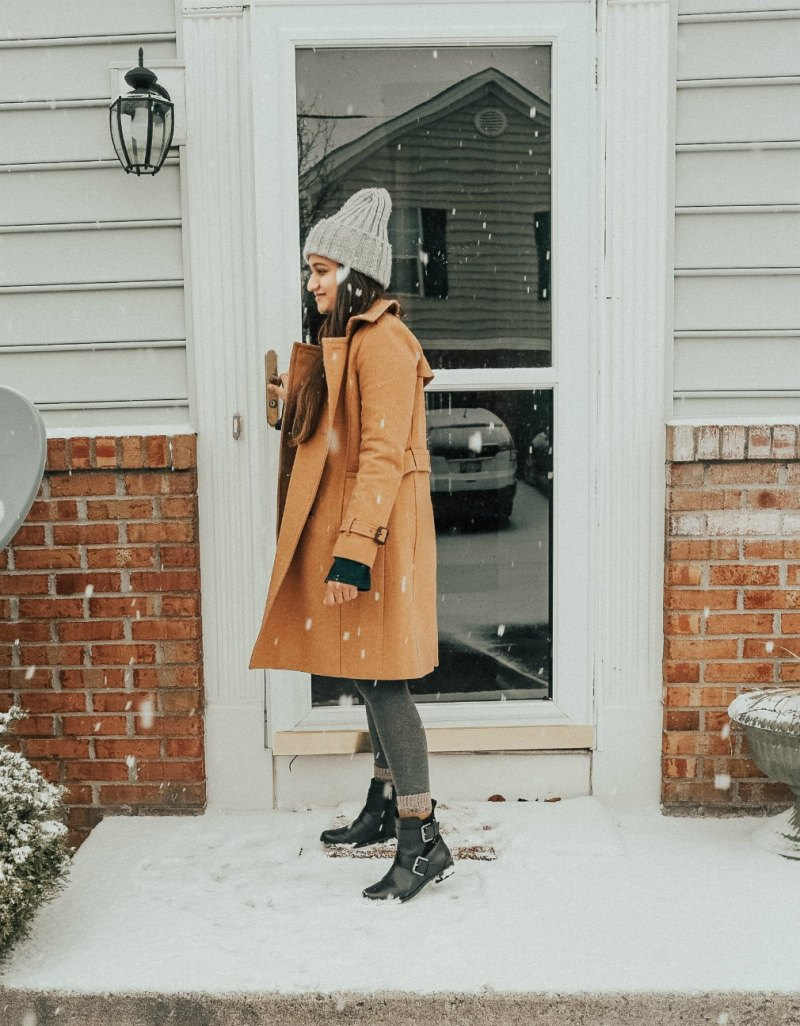 Fashion and Natural beauty blog Dreaming Loud Wearing JCrew Icon Trench Wool Cashmere Coat