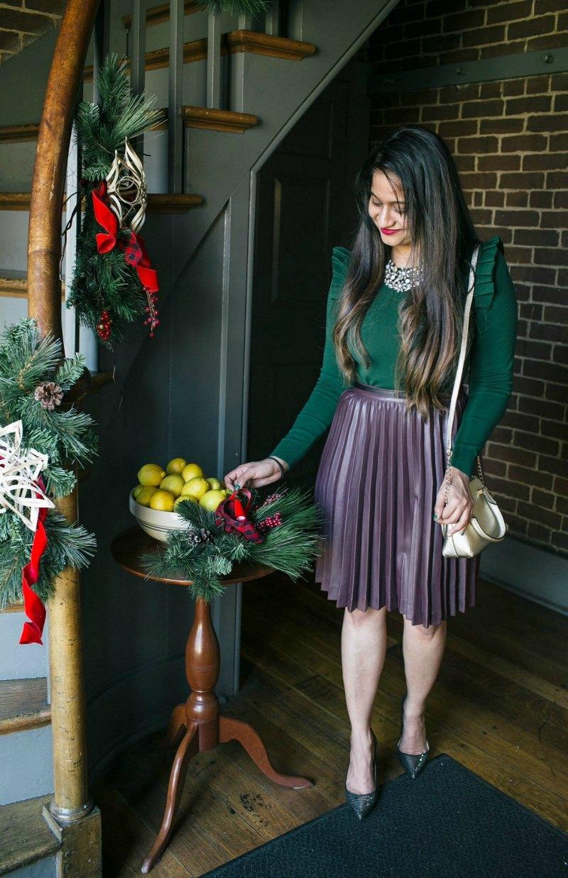Lifestyle Blog Dreaming Loud Wearing Katespade cedar street mini maise in gold
