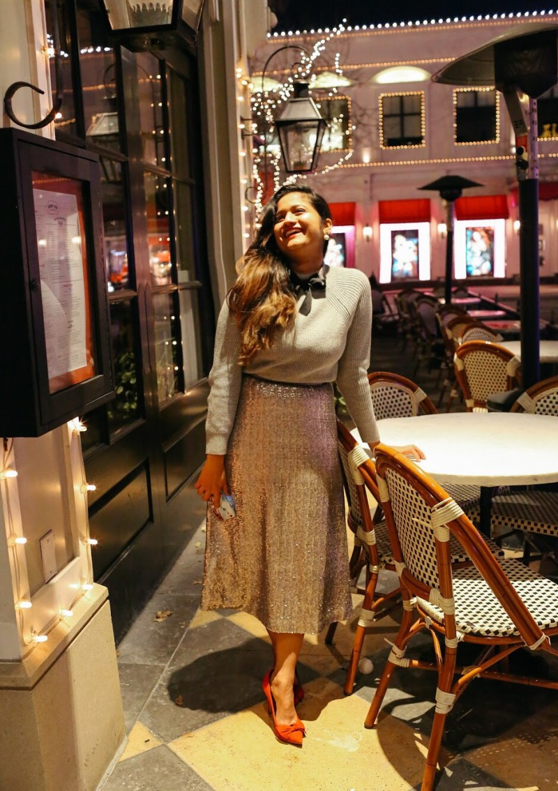 Lifestyle Blogger Surekha of Dreaming Loud Sharing how to wear sequin for holidays