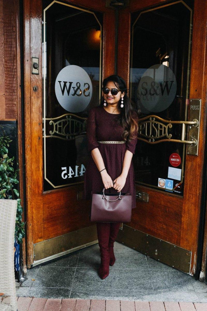 Lifestyle Blogger Surekha of dreaming loud wearing LC Lauren Conrad Swiss Dot Fit & Flare Dress 1