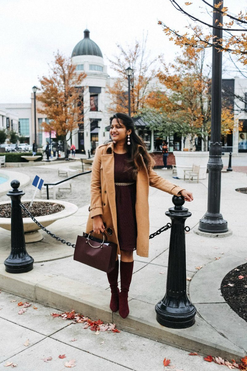 Lifestyle blogger Surekha of dreaming loud wearing LC Lauren Conrad Swiss Dot Fit & Flare Dress, red
