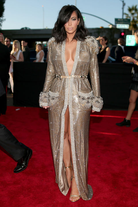 Kim Kardashian in Jean Paul Gaultier couture - 2015 Grammy Awards