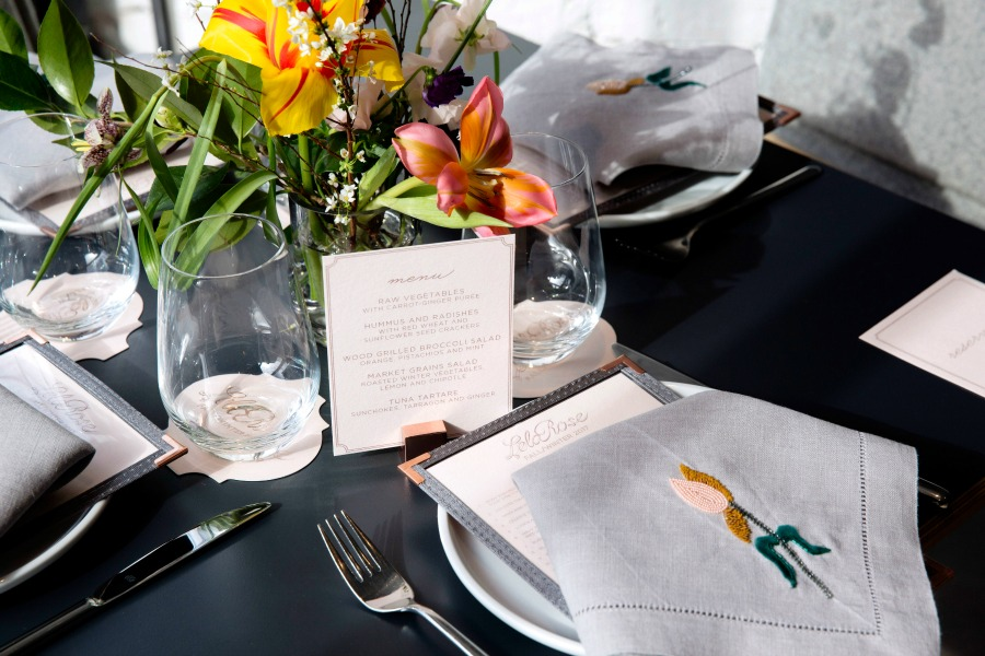 Lela Rose Fall 2017 Runway Luncheon - Table Setting