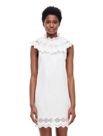 The Beguiled Style I Rebecca Taylor White Eyelit Dress