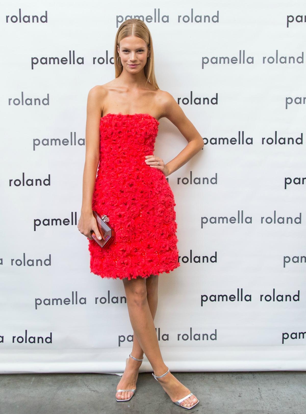 Nadine Leopold at Pamella Roland Spring 2018 Runway Show #NYFW