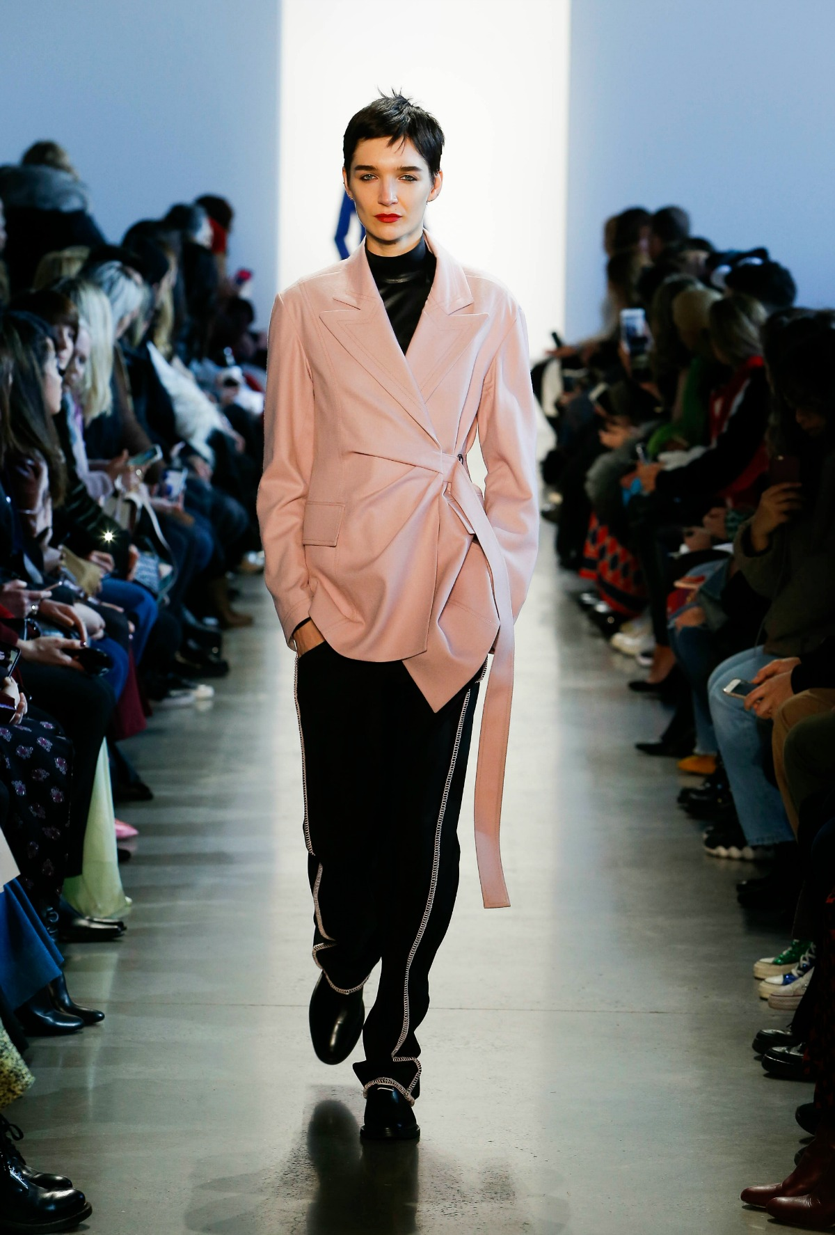 COLOVOS Fall 2018 Runway at NYFW I Millennial Pink Jacket #NYFW #WinterFashion