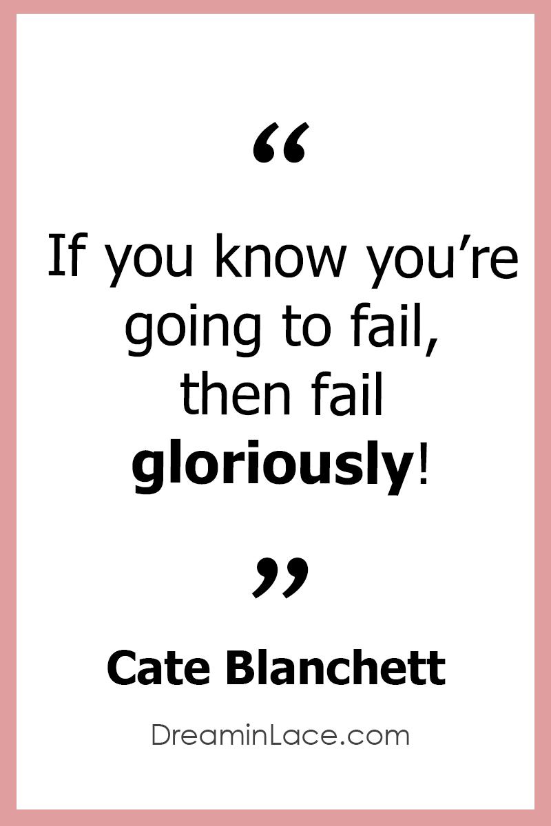 Inspiring Women's Day Quote by Cate Blanchett #WomensDay #CateBlanchett #Quotes