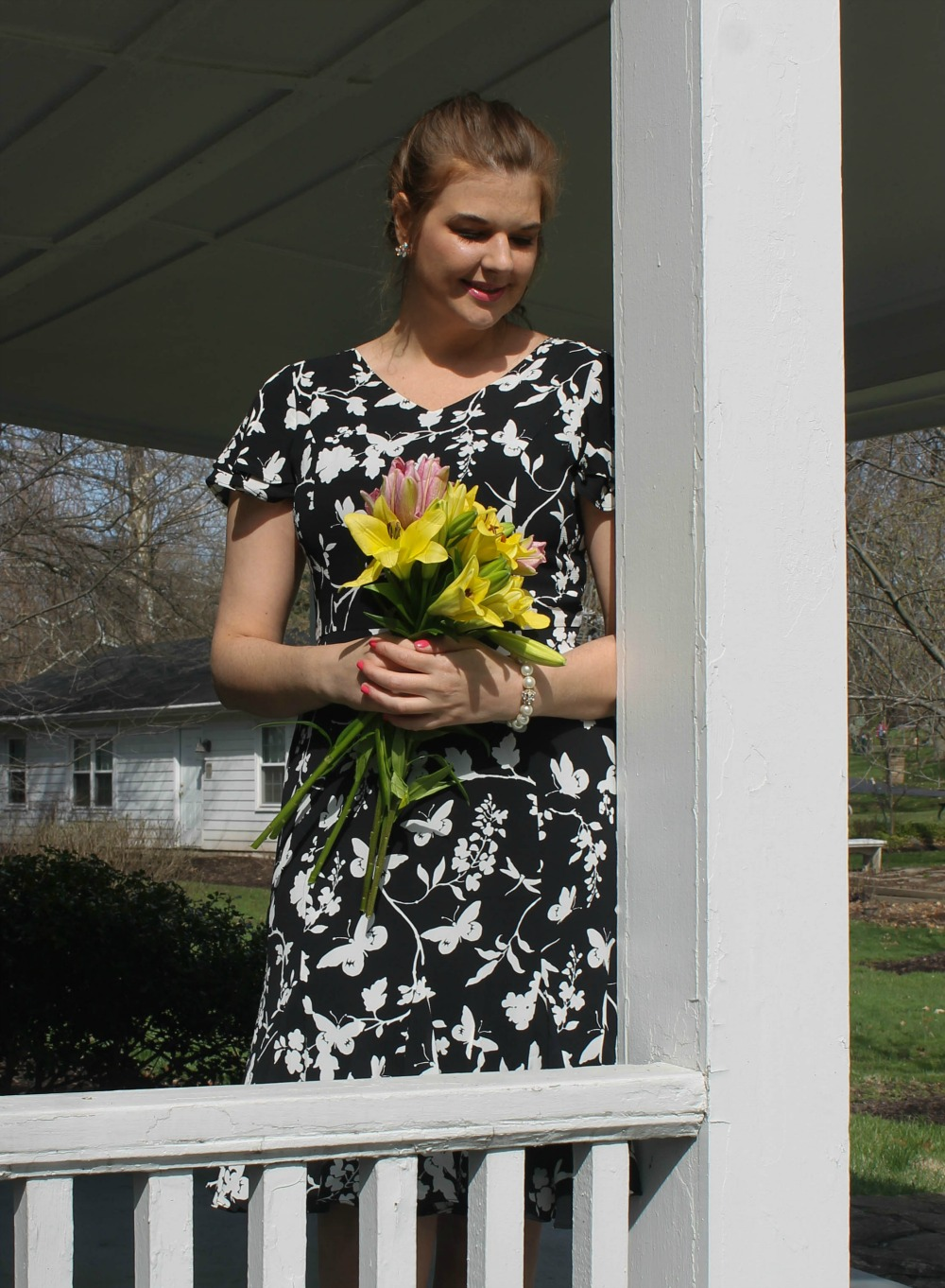 Talbots Occasion Wear I Spring 2018 RSVP Collection Butterfly Print Dress and Flats #Talbots #SpringStyle #OccasionTalbots Occasion Wear I Spring 2018 RSVP Collection Butterfly Print Dress and Flats #Talbots #SpringStyle #Occasion