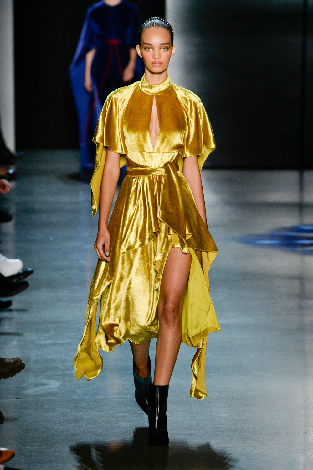 Yellow Fall Fashion Trend on the Prabal Gurung FW18 Runway at New York Fashion Week #FallFashion #FallTrends #Runway #FashionWeek #NYFW #FallStyle #FallTrends