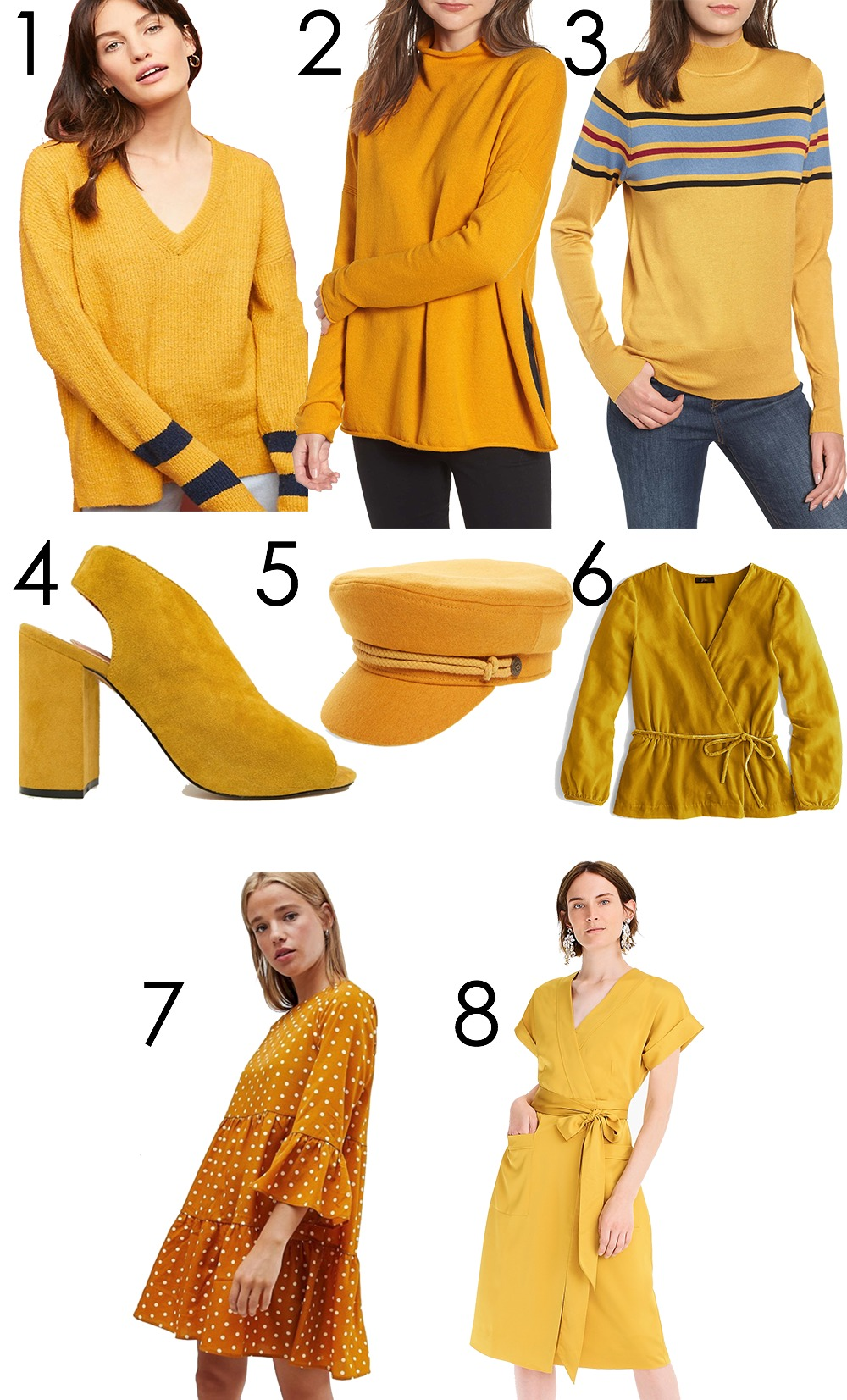 Yellow Fall Fashion Trend Picks for Your Wardrobe I DreaminLace.com #FallFashion #FallTrends #Style