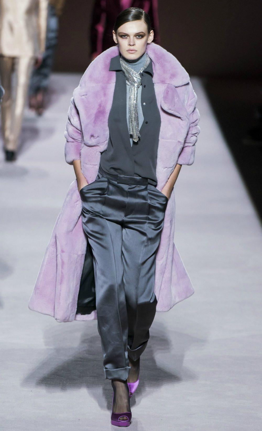 2019 Fall Fashion Trends to Wear Now I Lilac Overcoat on Tom Ford FW19 Runway #FallFashion #Runway #Trends #FashionBlog #Styleinspo