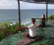 men meditating Como Shambhala Estate in Bali