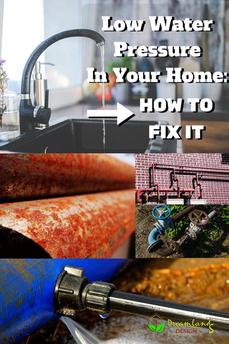 how to fix low water pressure in house