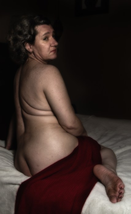 Nude with Red Scarf.