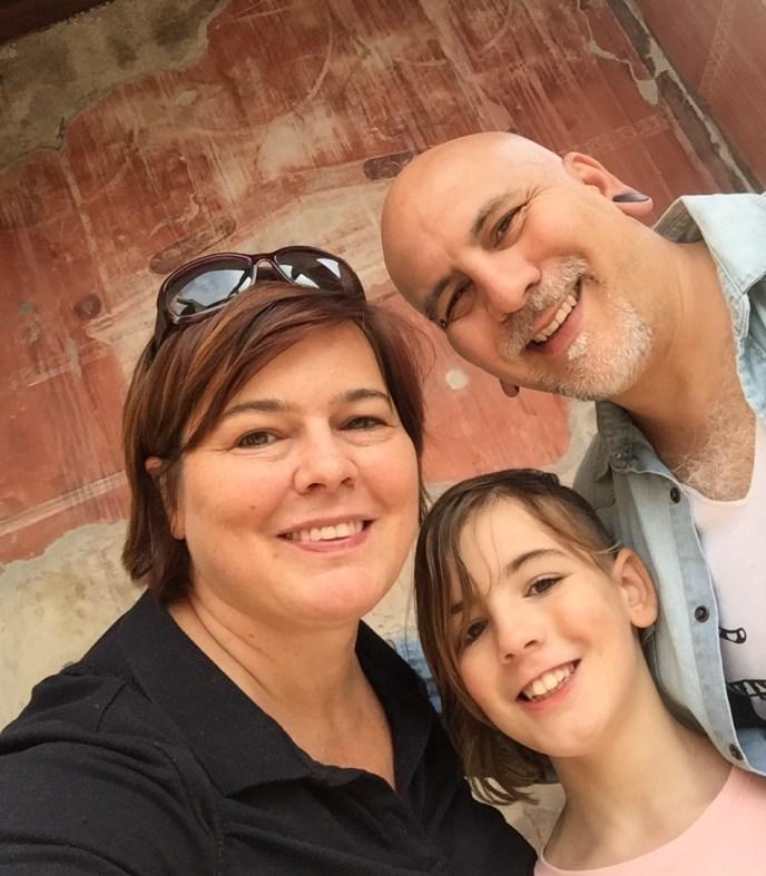 Photo of us in Pompeii