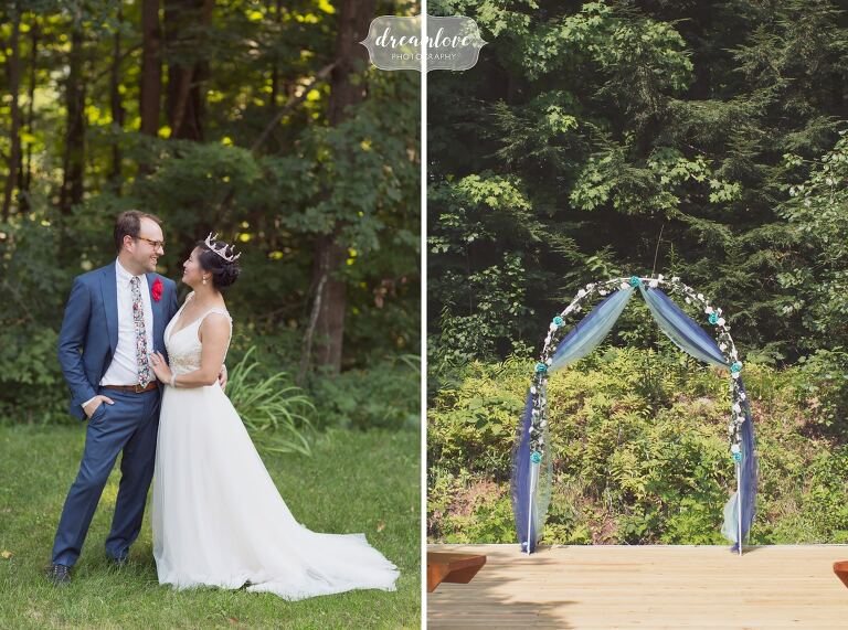 Small Backyard Wedding Dreamlove Wedding Photography  NH