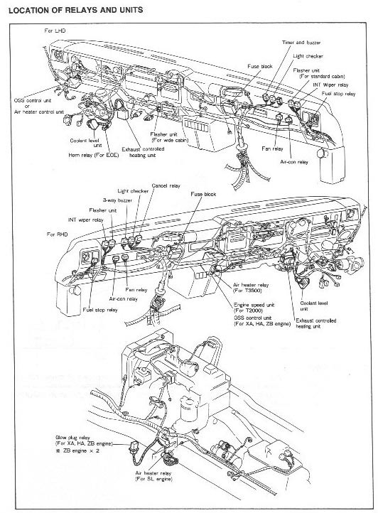 MAZDA T3500 CONSOLE