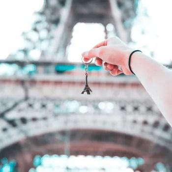 Paris-France-keychain-Eiffel-tower-travel-abroad