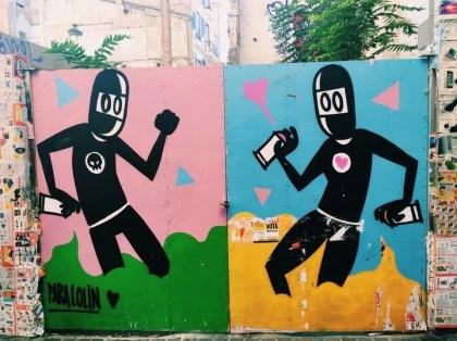 Eclectic street art in Madrid