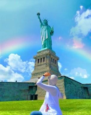 Kuwait moving study abroad statue liberty national monument