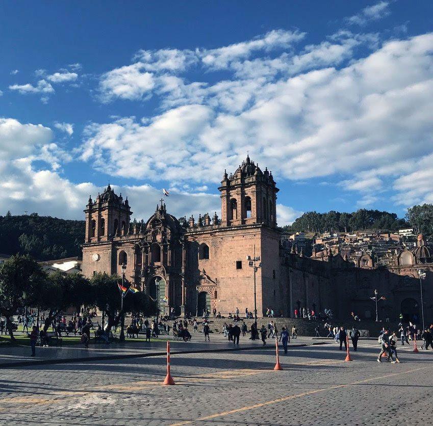 traveling peru plaza de armasto castle abroad