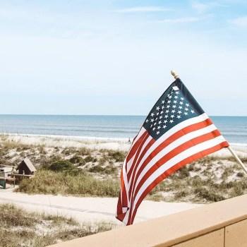 beach american flag