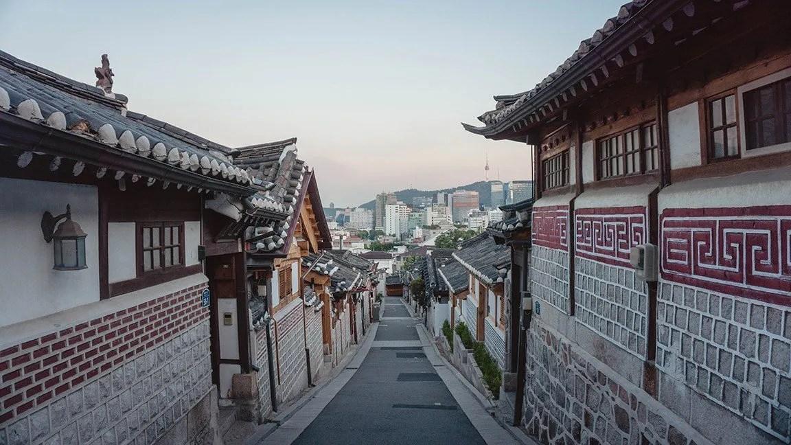 south korea back road