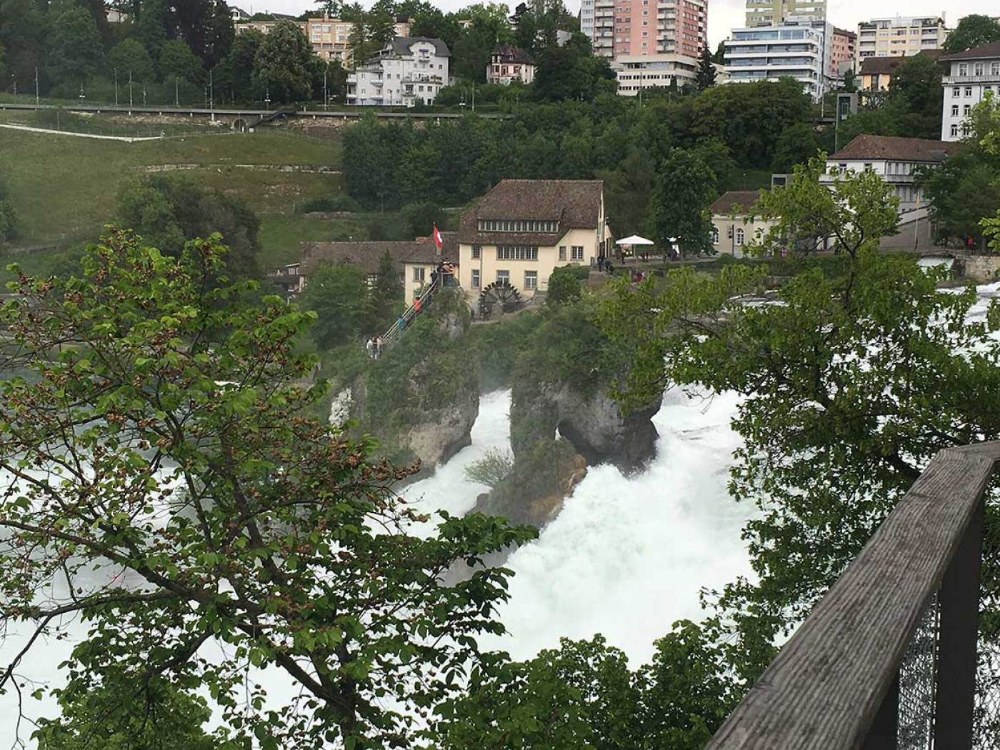 rhine falls traveling through germany