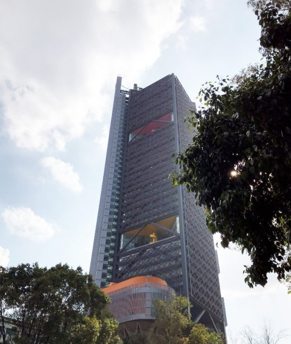 BBVA tower in mexico city